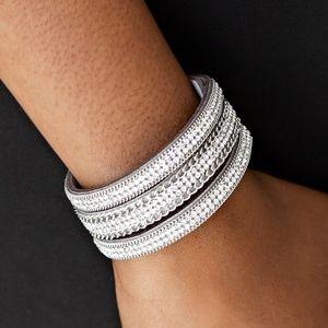 Dangerously Drama Queen - Silver Wrap Bracelet